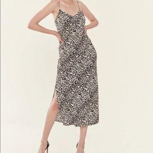PISTOLA MARI LEOPARD PRINT SLIP DRESS
